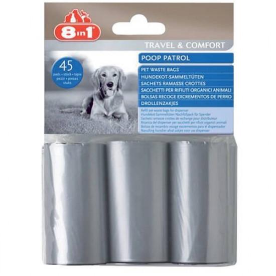 Sac pour dejections x45 de 8in1 - Friandises chien dans Soins et Hygiene pour chiens