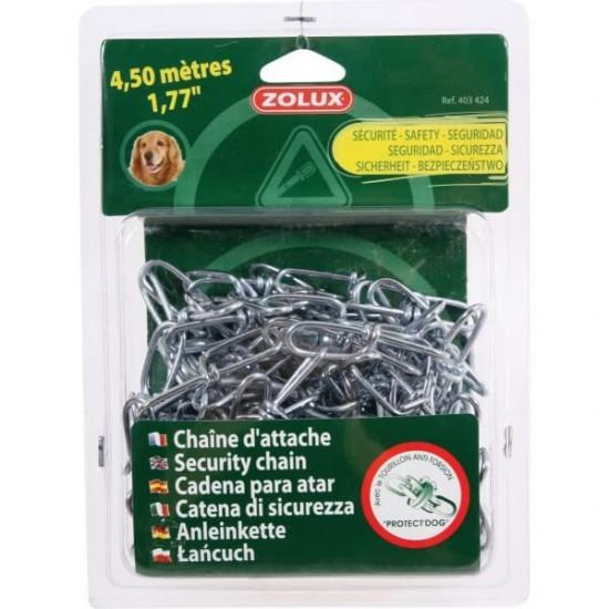 Chaine d'attache acier 4,5m de Zolux - Produit pour animaux dans Laisses, colliers et harnais
