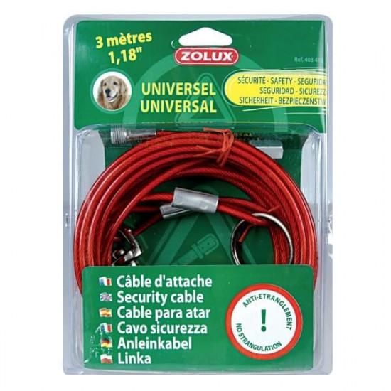 Cable d'attache universel 3m de Zolux - Produit pour animaux dans Laisses, colliers et harnais