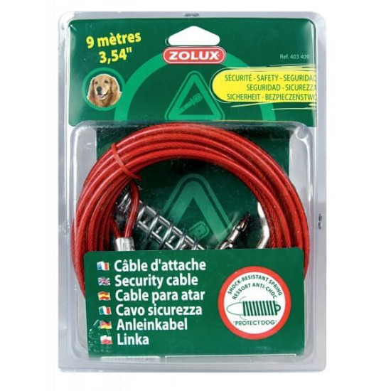 Cable d'attache & ressort 9m de Zolux dans Laisses, colliers et harnais