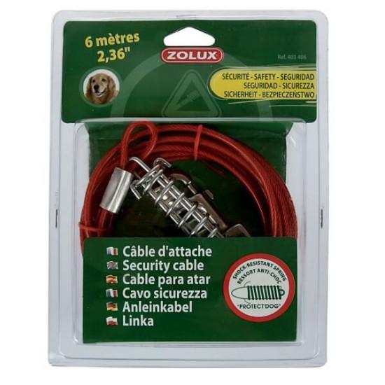 Cable d'attache & ressort 6m de Zolux - Produit pour animaux dans Laisses, colliers et harnais