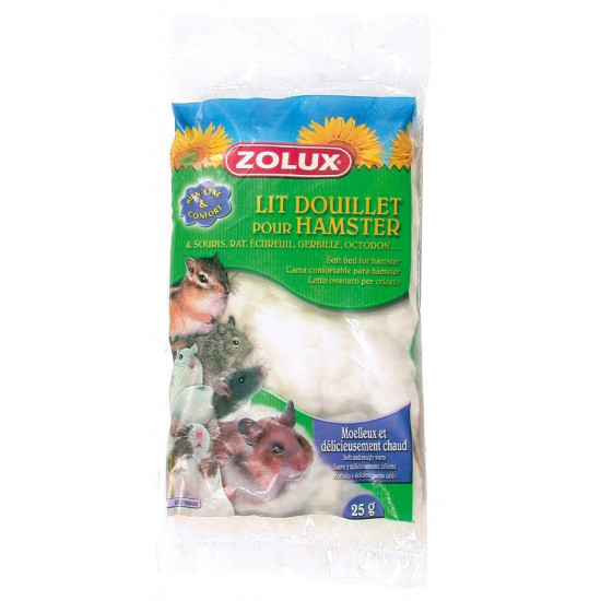 Lit douillet hamster blanc
