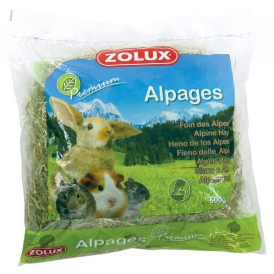 Foin alpages premium 500g de Zolux - Produit pour animaux dans Foin pour rongeurs