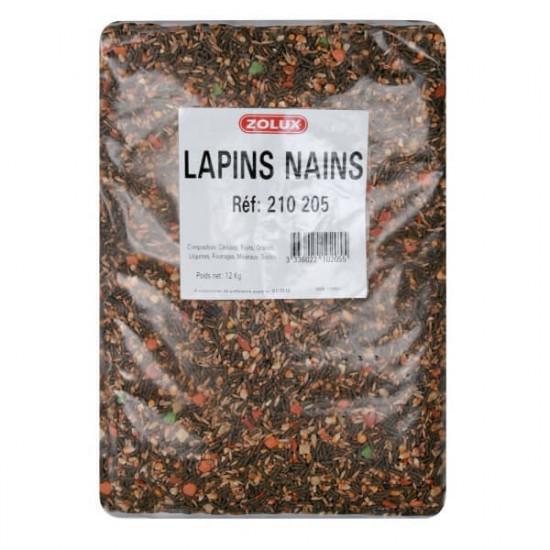 Melange lapin nain sac 12kg de Zolux - Produit pour animaux dans Nourriture pour rongeurs