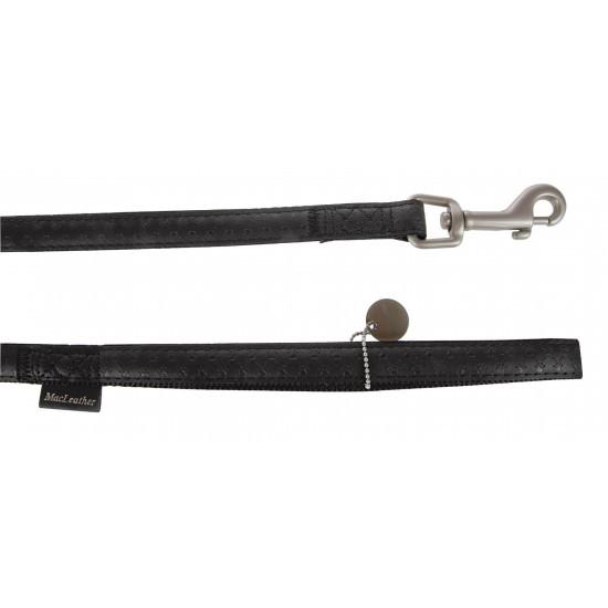 Laisse mc leather 1.2m 25mm noir