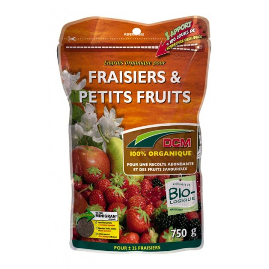 Engrais fraisiers-ptts fruits 750g de DCM - Engrais et terreaux dans Granule