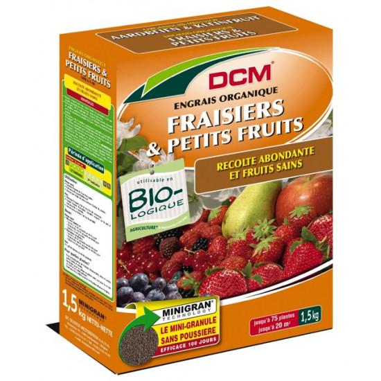 Engrais fraisiers-pts fruits 1.5kg de DCM - Engrais et terreaux dans Granule