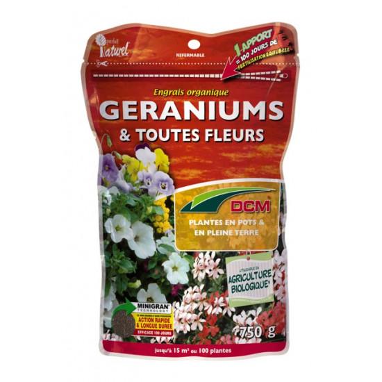 Engrais geraniums-jardinieres 750g de DCM - Engrais et terreaux dans Granule