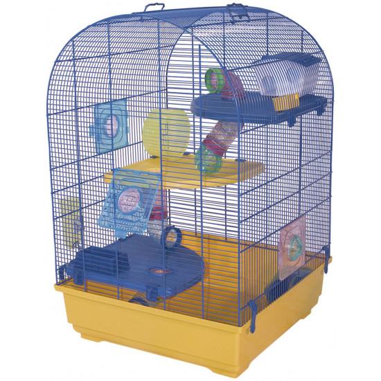 Cage trek 52 giallo-blu de Marchioro - cage pour oiseaux et rongeurs dans Cages pour rongeurs