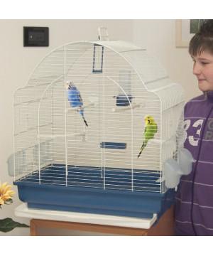 Cage spyros 62 top blu sc-beige de Marchioro dans Cages oiseaux