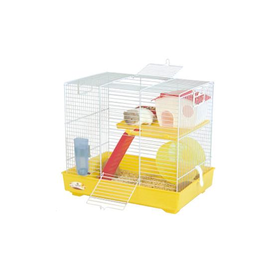 Cage rong lux 2 giallo-bianco de Marchioro - cage pour oiseaux et rongeurs dans Cages pour rongeurs