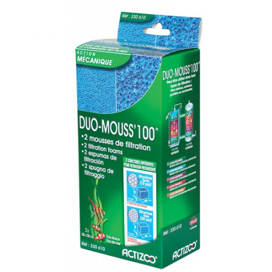 Duo mouss' 100 de Zolux dans Produits de filtration