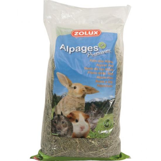 Foin alpages premium 1,5 kg de Zolux - Produit pour animaux dans Foin pour rongeurs