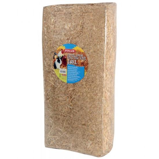Paille naturelle 240l (8kg) de Zolux - Produit pour animaux dans Litières pour rongeurs