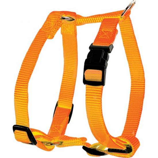 Harnais nylon reg 20mm orange