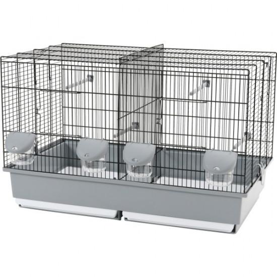 Cage elevage 67 noir-gris