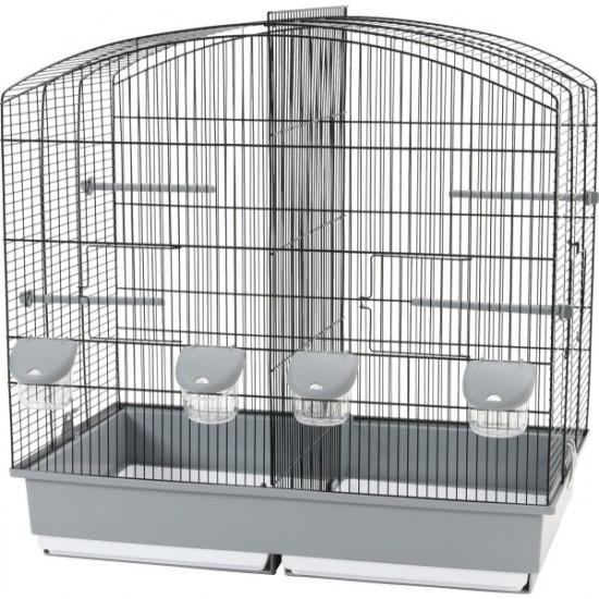 Cage family 6 noir-gris de Zolux - Produit pour animaux dans Cages pour oiseaux
