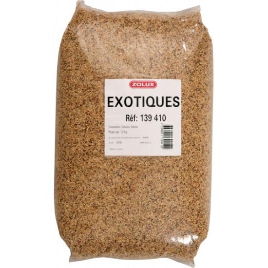 Melange exotiques sac 12kg de Zolux dans Graines pour oiseaux