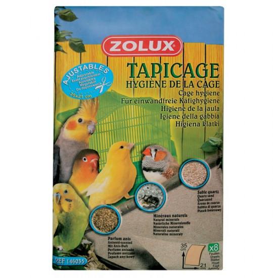 Feuilles sablees pm 35x21cm /8 de Zolux - Produit pour animaux dans Litiere pour oiseaux