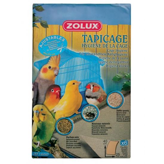 Feuilles sablees mm 40x25cm /6 de Zolux dans Litiere pour oiseaux