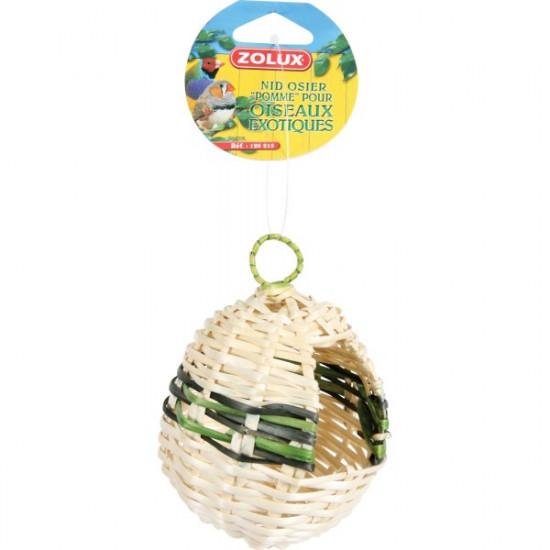 Nid osier exotique pomme de Zolux - Produit pour animaux dans Nids