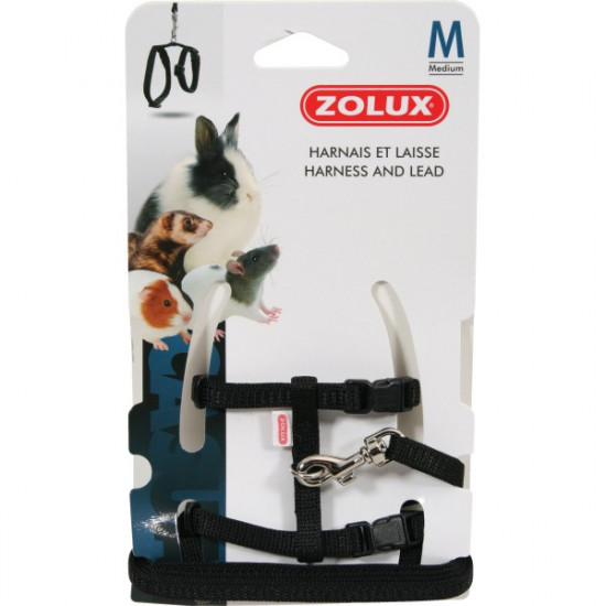 Kit harnais p.mam casual m noir de Zolux - Produit pour animaux dans Accessoires pour rongeurs