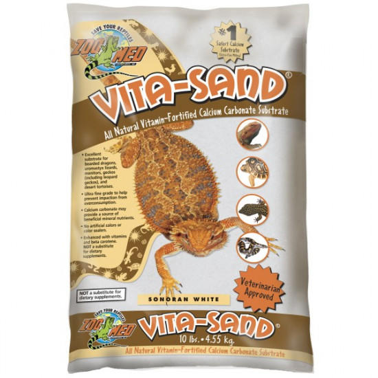 Sable vitasnd blanc 4.5kg vw10 de Zoomed - Accessoires reptiles dans Substrat de sol
