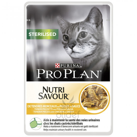 Pp chat sterilised poulet 85g