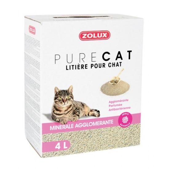 Lit. purecat agglo parf. 4l de Zolux - Produit pour animaux dans Litiere pour chats