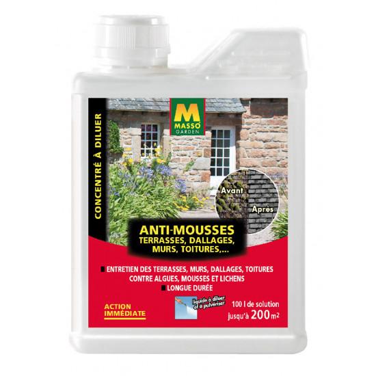 anti mousse 1l de masso engrais bio et soin des plantes pas cher. Black Bedroom Furniture Sets. Home Design Ideas