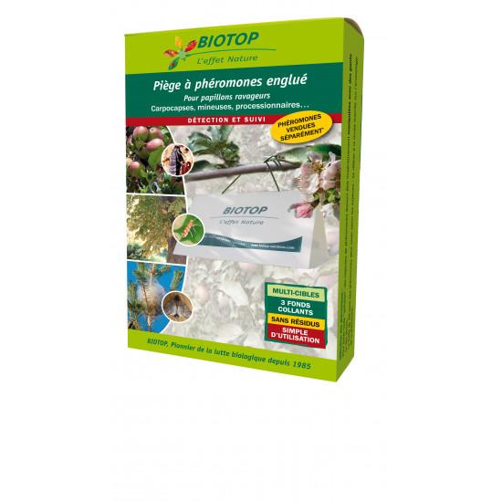 Piege delta seul (1toit+3fonds) de Biotop - Traitement bio, insectes pour plantes dans Phéromone et nématode