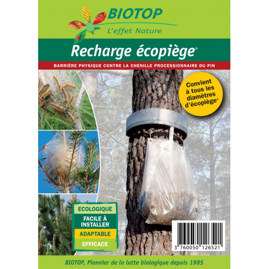 Sac recharge ecopiege de Biotop - Traitement bio, insectes pour plantes dans Phéromone et nématode