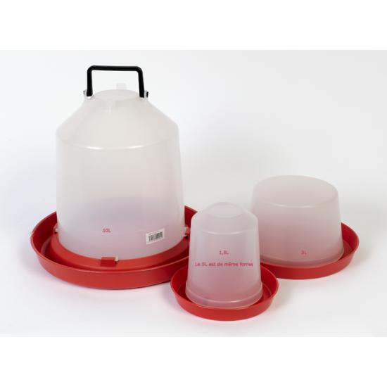 Abreuvoir poussin plast 1,5l de Divers dans Abreuvoirs
