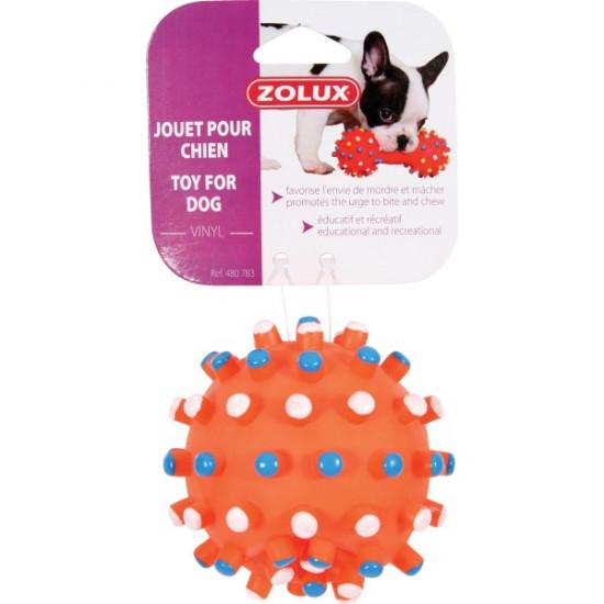 Jouet balle picot vinyl 9cm de Zolux - Produit pour animaux dans Jouets pour chiens