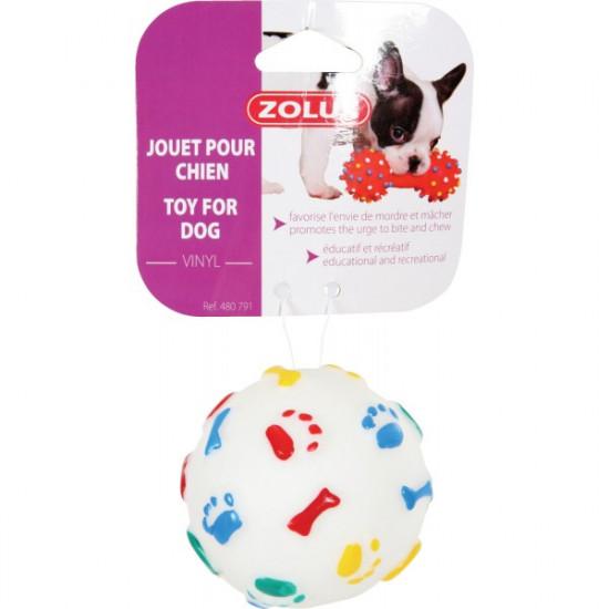 Jouet balle rebond vinyl 7,5c de Zolux - Produit pour animaux dans Jouets pour chiens