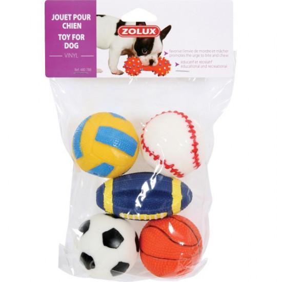 Jouet balle sport vinyl 6cm de Zolux - Produit pour animaux dans Jouets pour chiens