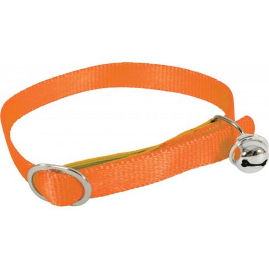 Collier nylon chat orange