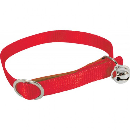 Collier nylon chat rouge