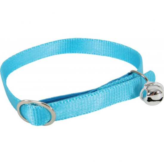 Collier nylon chat turquoise