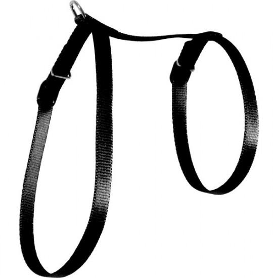 Harnais nylon chat noir