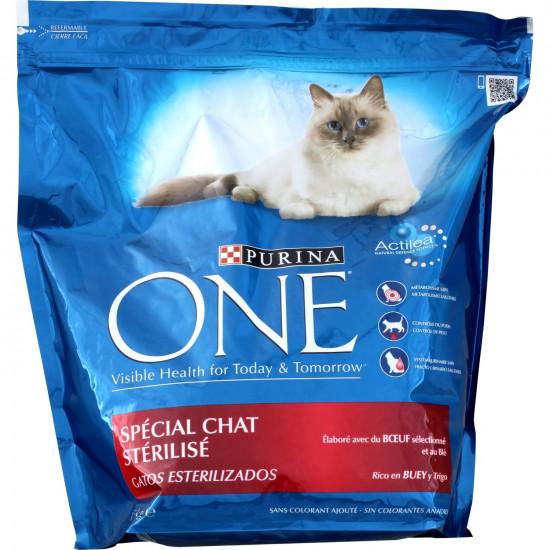 One sec chat sterilise boeuf 3kg de Purina One - croquette pour chats dans Purina One