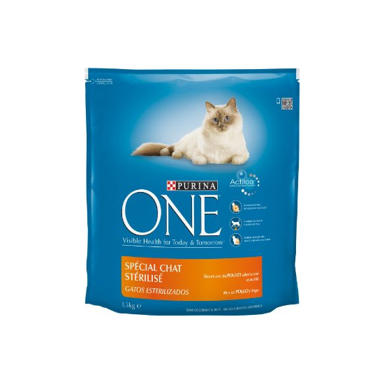 One sec chat sterilise poulet 1,5kg de Purina One - croquette pour chats dans Purina One