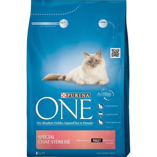 One sec chat sterilise poulet 6kg de Purina One - croquette pour chats dans Purina One