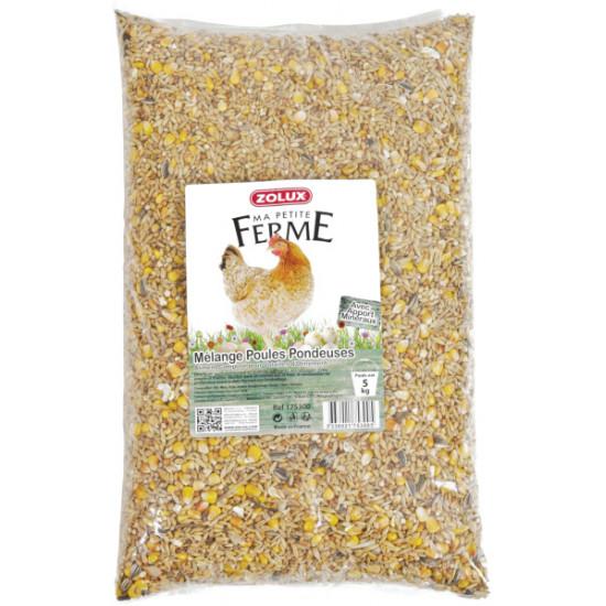 Melange poule pondeuse 5kg de Zolux - Produit pour animaux dans Alimentation des poules et animaux de basse cour