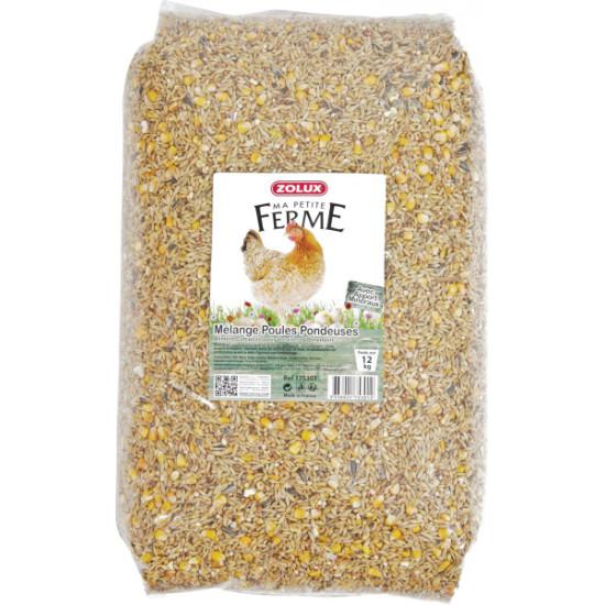 Melange poule pondeuse 12kg de Zolux - Produit pour animaux dans Alimentation des poules et animaux de basse cour