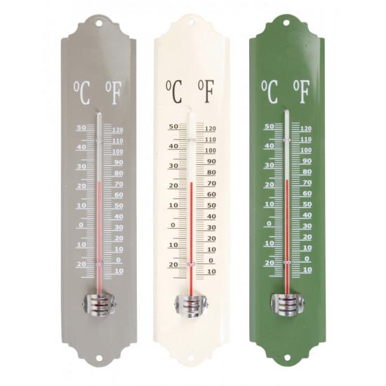 Thermometre metal assorti de Esschert design - deco maison et jardin dans Thermométre - Pluviometre - Baromètre