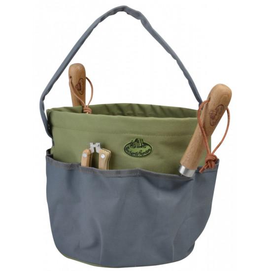 Sac a outils rond gris de Esschert design - deco maison et jardin dans Sac, étui, et sacoche