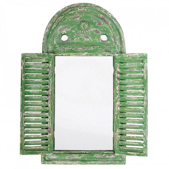 Miroir louvre vert patine