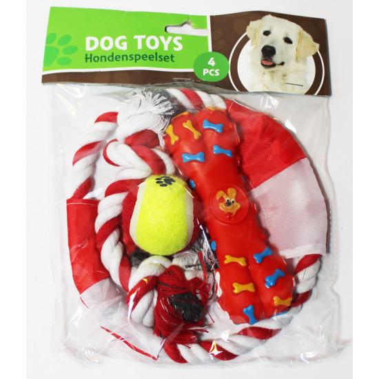 Jouet pour chiens - set 4 pcs