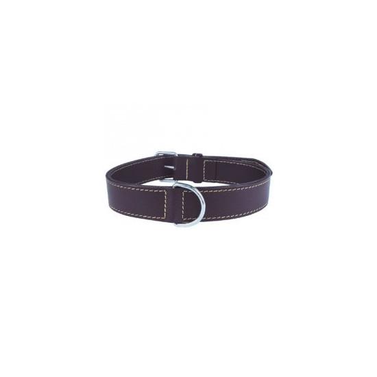 Collier cuir dbl 65 cm marron de Zolux - Produit pour animaux dans Colliers